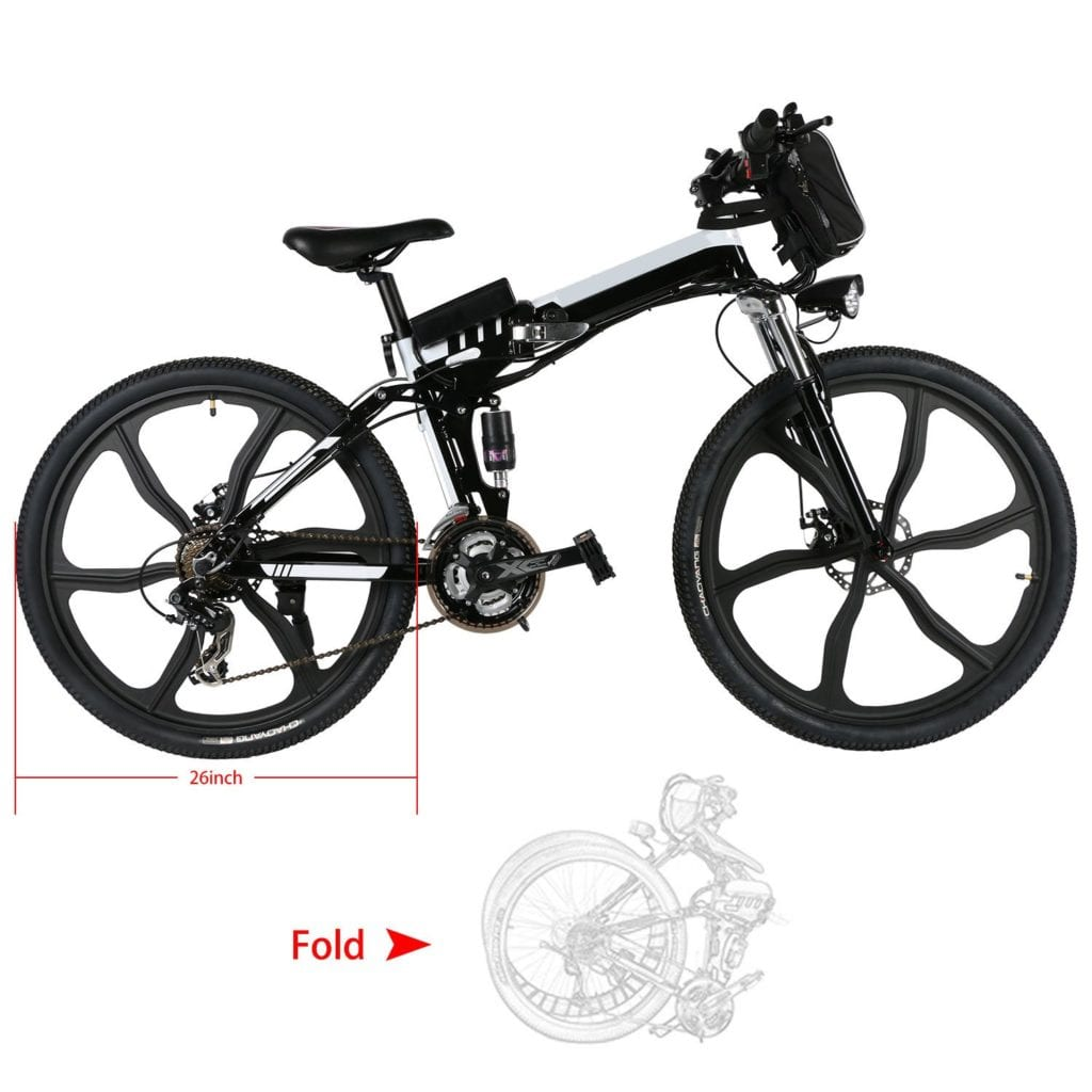 one of the best electric bikes under 1000 - Kemanner 26 inch Electric Mountain Bike