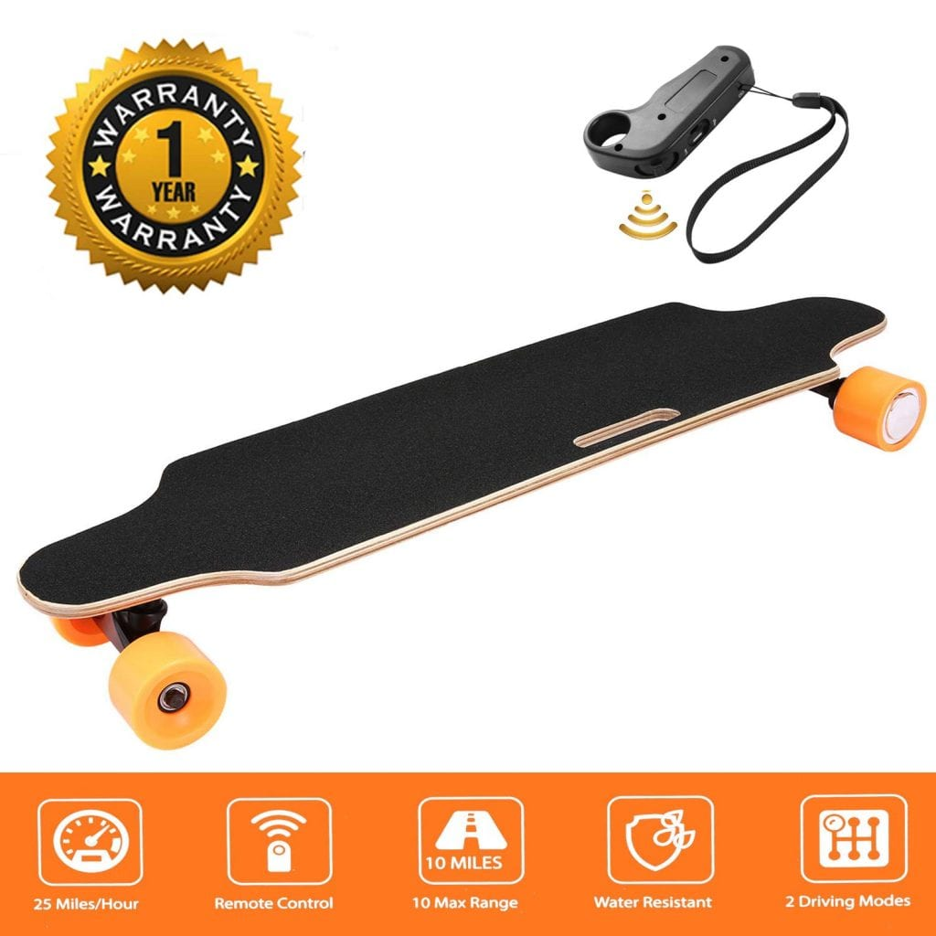 Maple Longboard with Wireless Remote