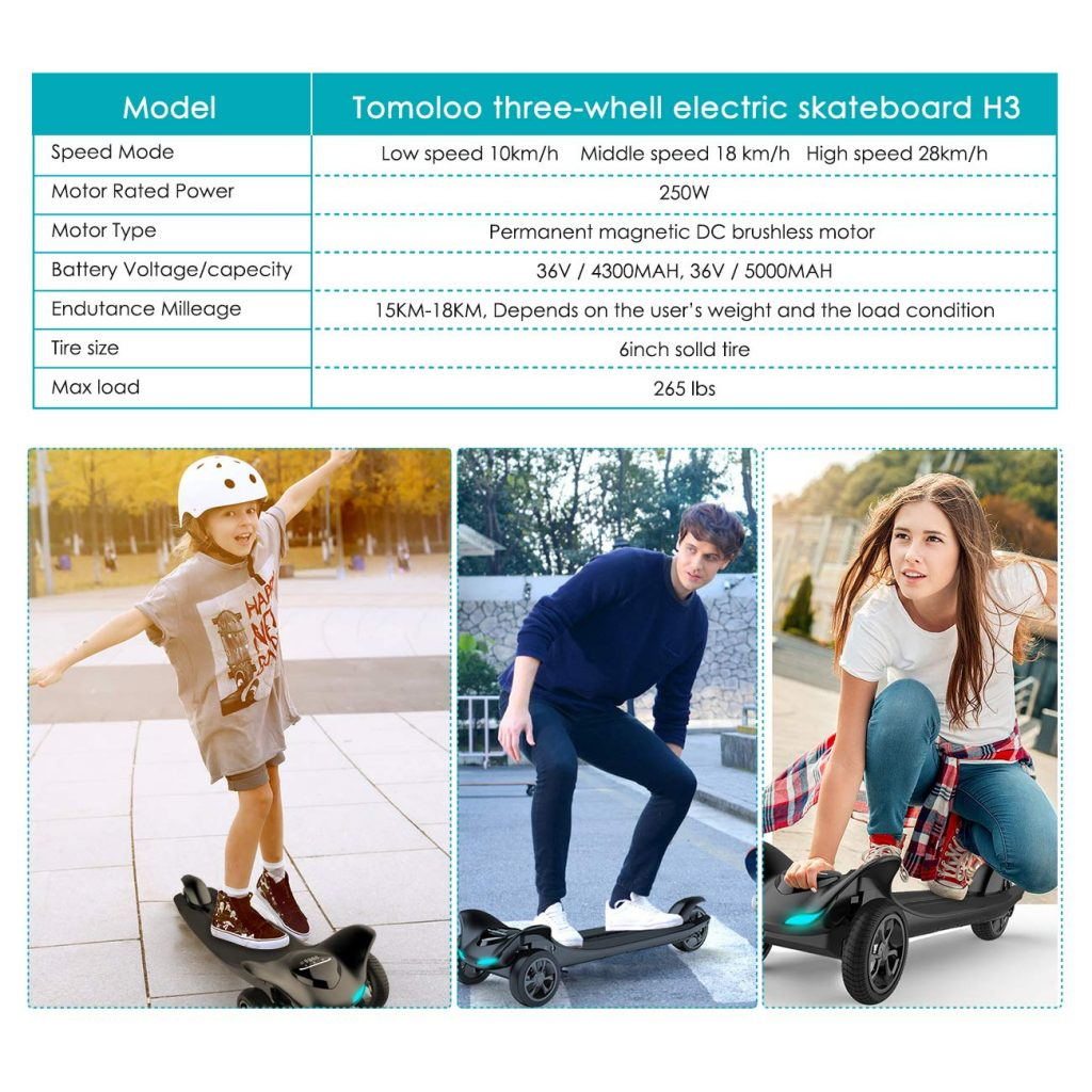 TOMOLOO Dragon Knight H3 Hoverboard with Bluetooth Speaker pic2