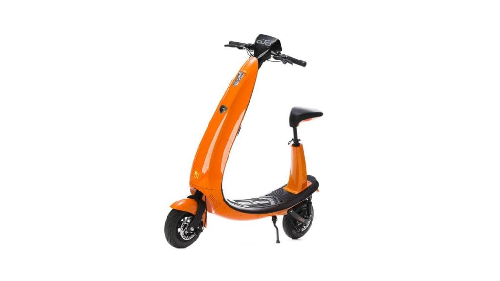electric scooter orange