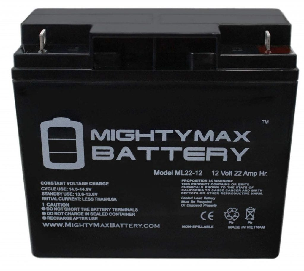 Mighty Max 12V 22Ah Bike Sealed Battery