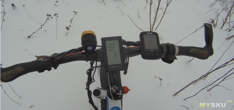 ebike lcd in snow