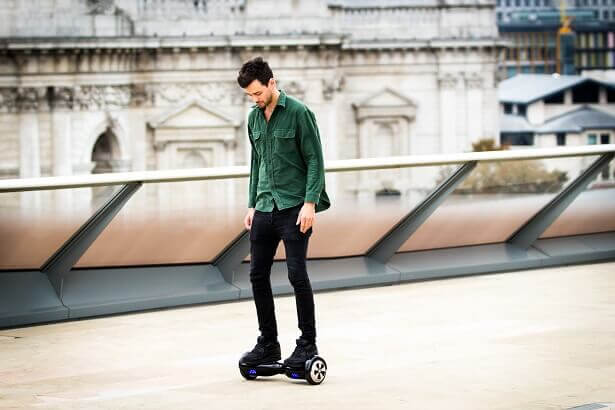 riding the hoverboard