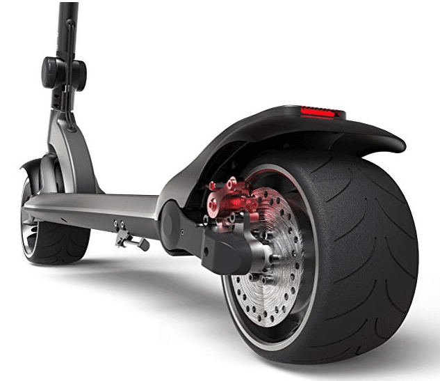 Mercane Wide Wheel Scooter brakes