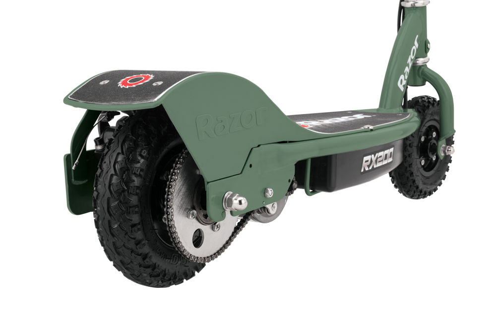razor rx200 electric scooter rear